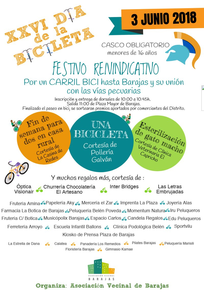 Cartel Fiesta de la bici Barajas