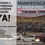 La vecindad de San Blas protesta contra los problemas que generan los partidos del Wanda