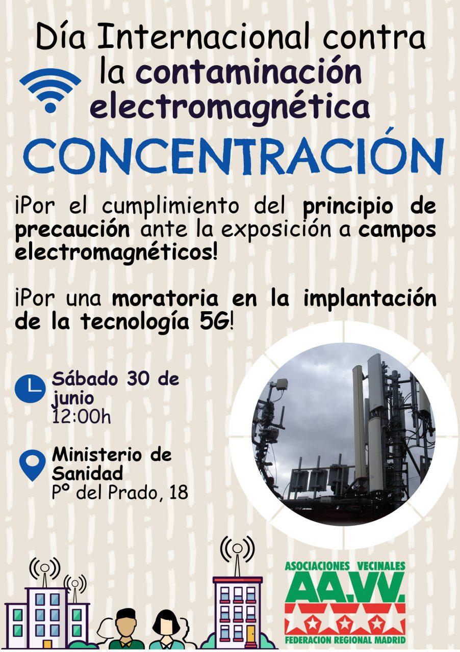 Cartel concentración por la moratoria de la 5G