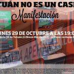 El 29-O, Día Mundial Sin Juegos de Azar, nos manifestamos contra la proliferación de las casas de apuestas en nuestros barrios