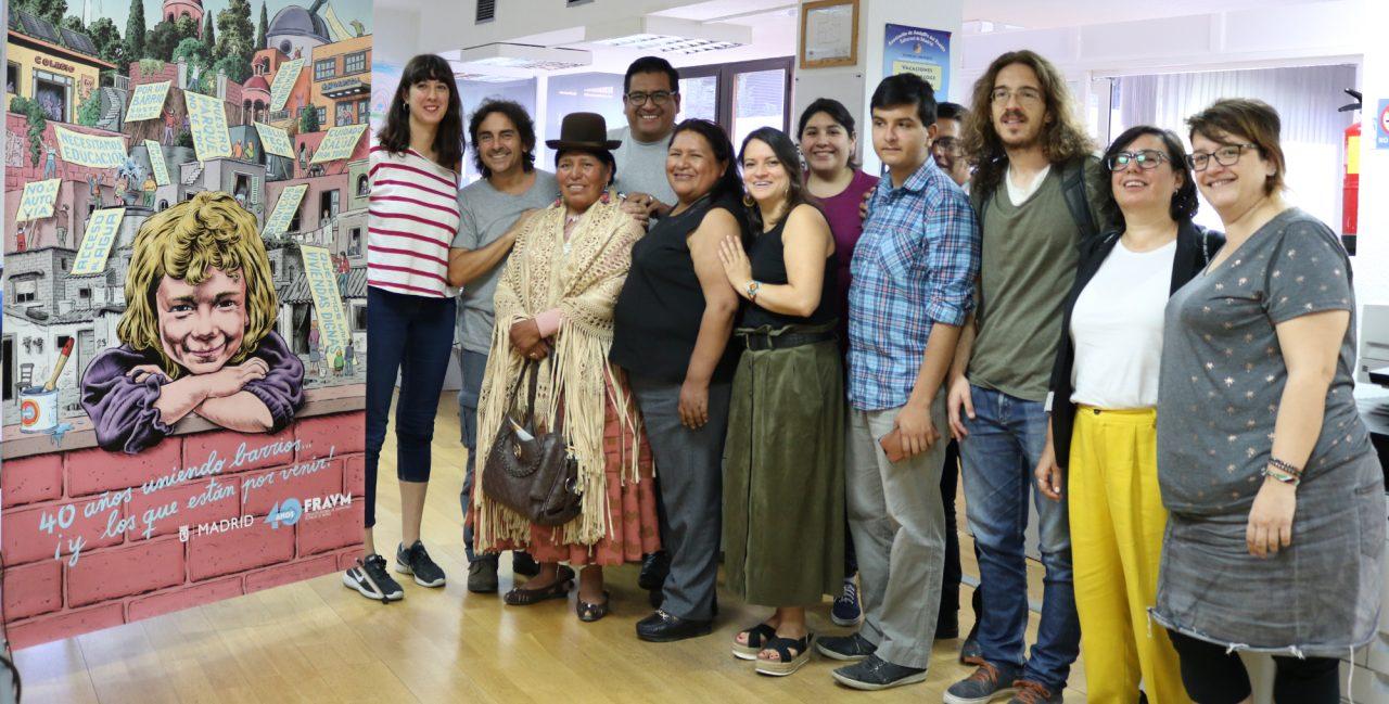 Visita FEJUVE boliviana a la FRAVM