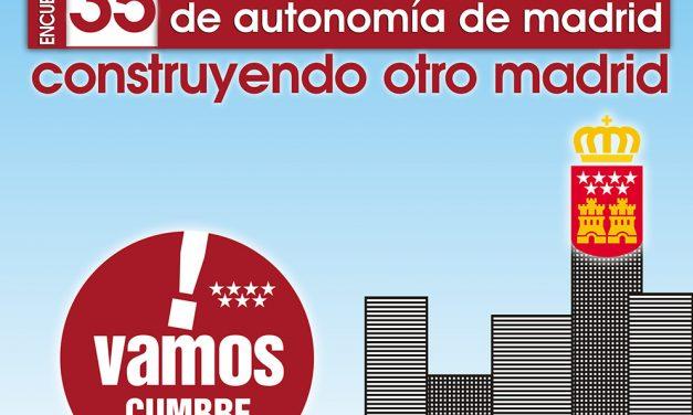 """Jornada para pensar y """"construir otro Madrid"""" con motivo del 35º Aniversario del Estatuto de Autonomía"""