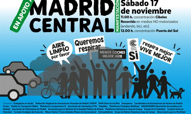 El sábado 17-N, nos movemos por Madrid Central