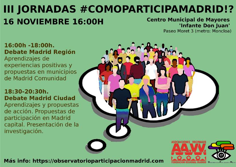 """""""¿Cómo participa Madrid?"""" se abre a la reflexión de experiencias de otros municipios de la región"""
