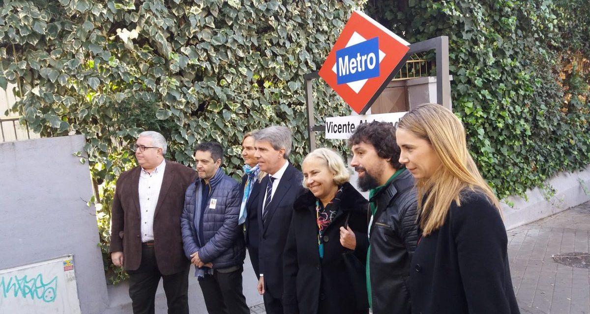 La AV El Organillo consigue que la parada de Metro Metropolitano pase a denominarse de Vicente Aleixandre