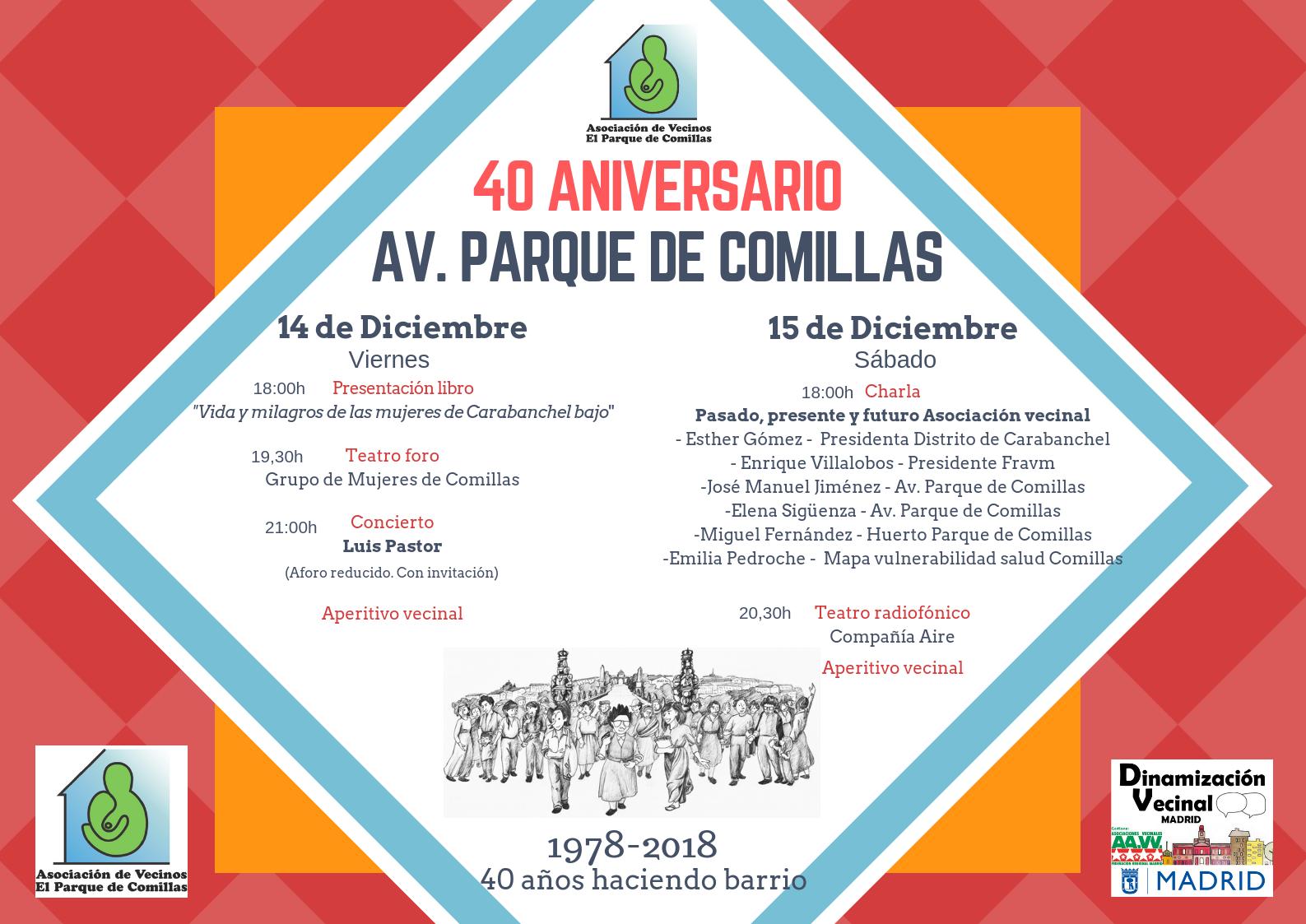 40 aniversario AV Comillas cartel