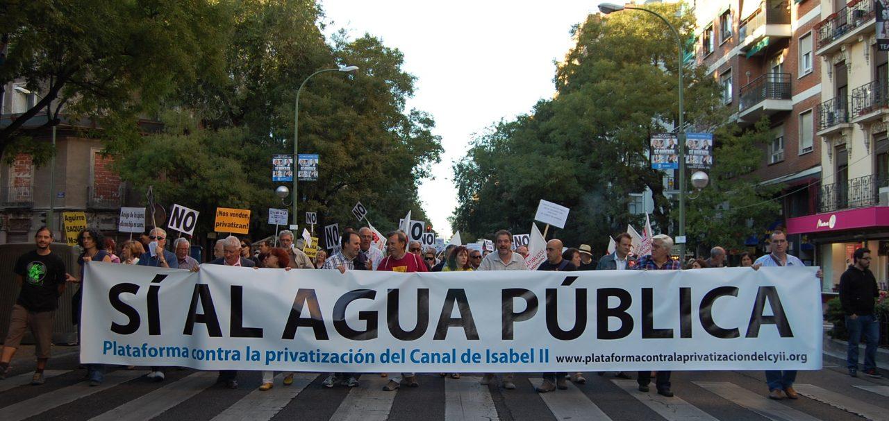 Presentación del Acuerdo social sobre la gestión del ciclo integral del agua en la Comunidad de Madrid