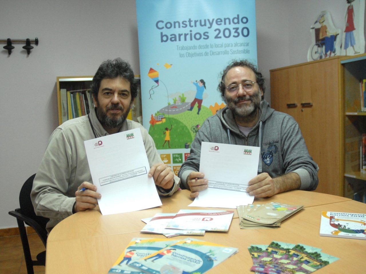 Firma convenio FRAVM-Red de ONGD de Madrid