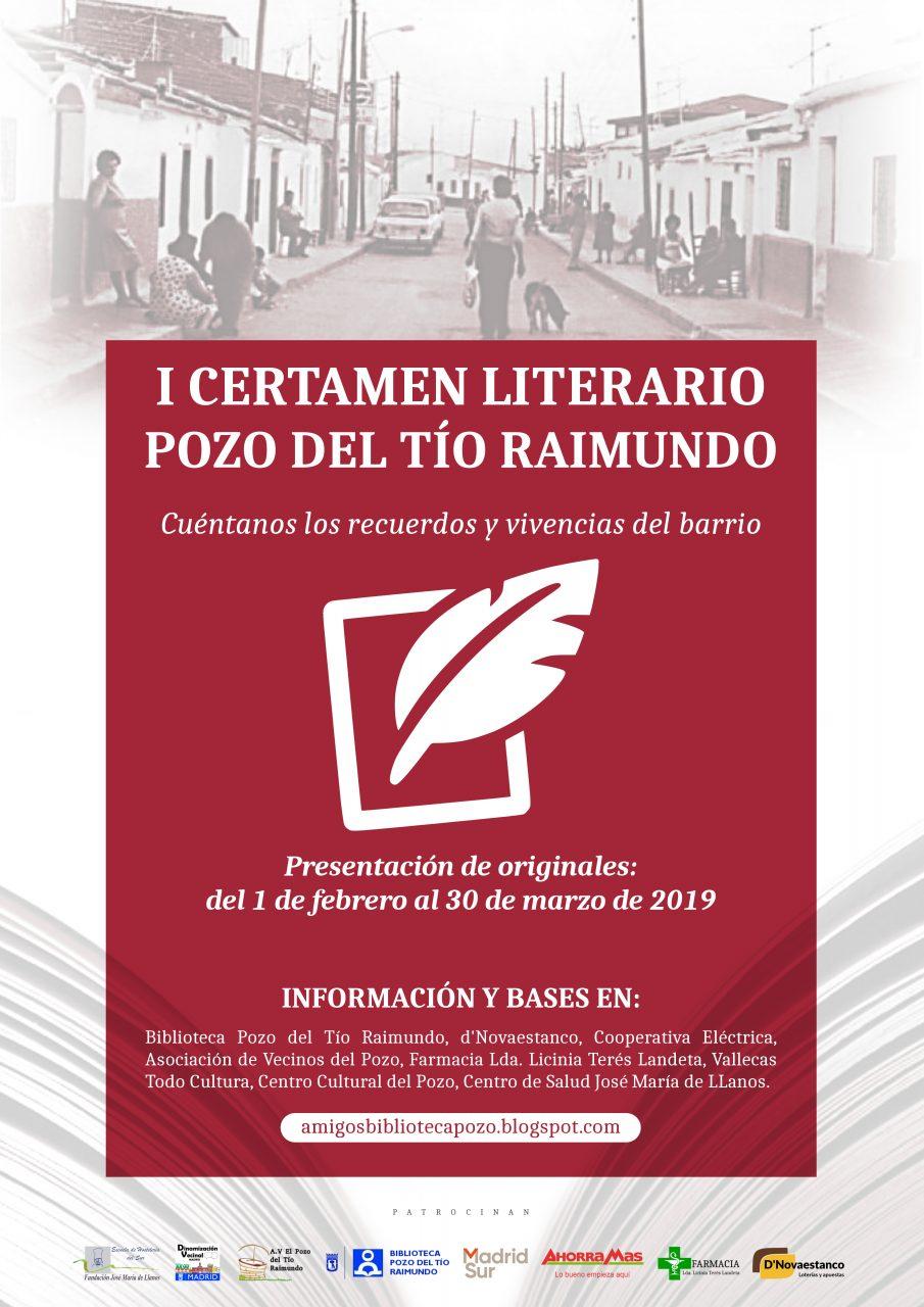 cartel I Certamen Literario El Pozo