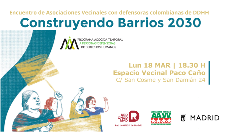 Encuentro de defensoras colombianas de derechos humanos con el movimiento vecinal