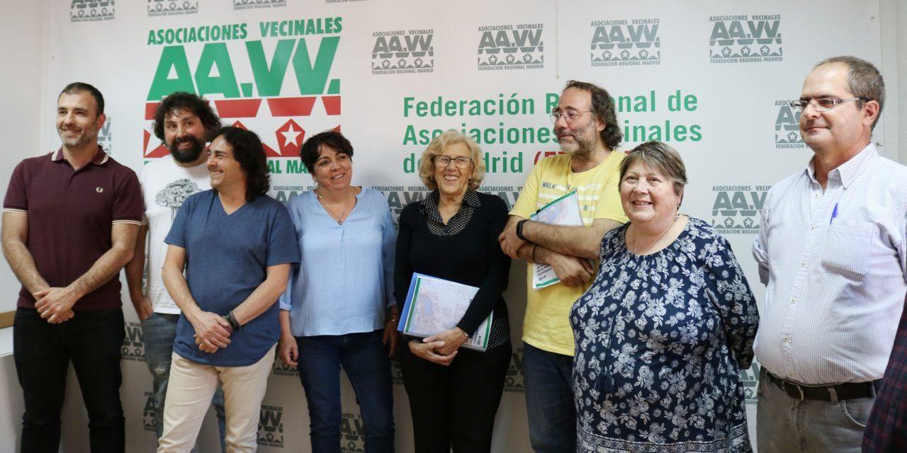 La FRAVM presenta a Manuela Carmena sus propuestas de cara a las elecciones locales de mayo