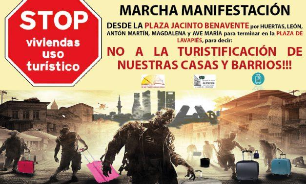 """Letras y Lavapiés se mueven contra la """"turistificación"""" de sus """"casas y barrios"""""""