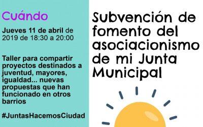Escuela Vecinal: taller sobre proyectos para las subvenciones de fomento del asociacionismo