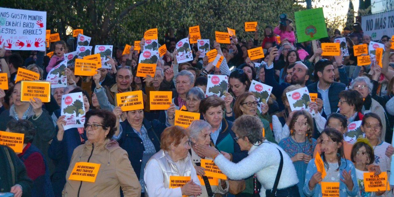 Nueva protesta contra el proyecto de remodelación del nudo de Eisenhower