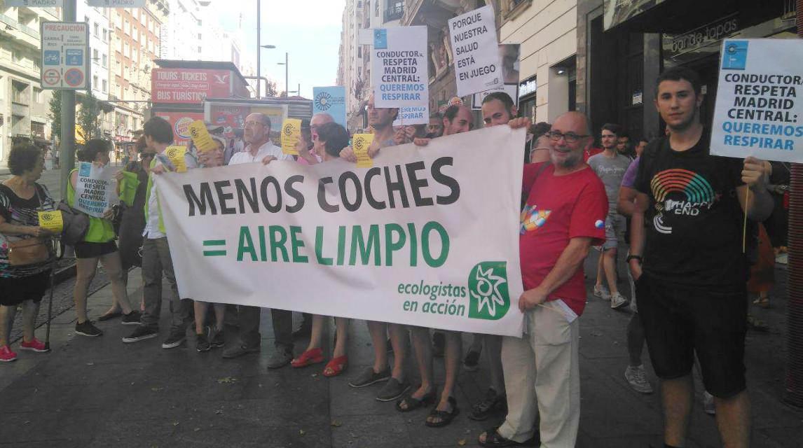 La Plataforma en Defensa de Madrid Central celebra la decisión judicial que mantiene las multas