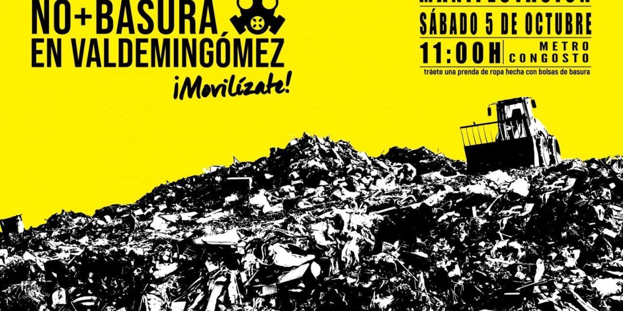 Villa de Vallecas rechaza en la calle la llegada de más basura a Valdemingómez