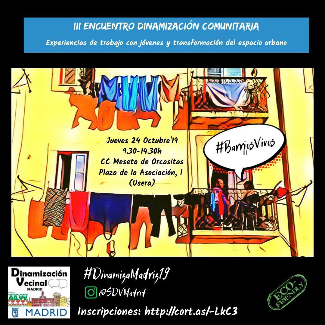 Cartel III Encuentro de dinamización comunitaria