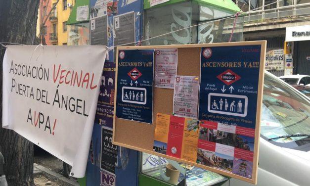 Más de 4.500 firmas para exigir ascensores en las estaciones de Metro Puerta del Ángel y Alto de Extremadura