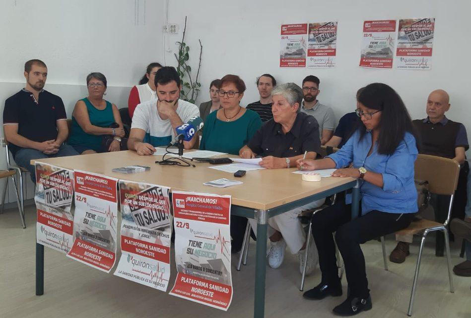 Manifestación para que el hospital de Villalba deje de ser un centro de segunda