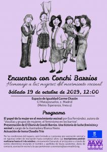 Cartel Encuentro con Conchi Barrios