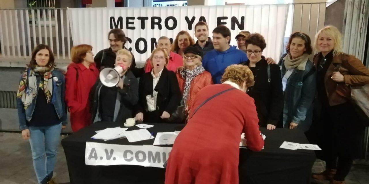 Continúa la campaña por la apertura de una estación de Metro en Comillas (Carabanchel)
