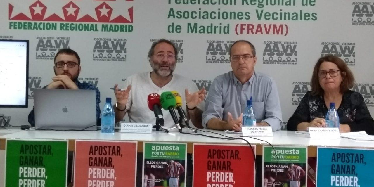 Informe sobre locales de apuestas en Madrid: 61 negocios se ubican a menos de cien metros de centros escolares