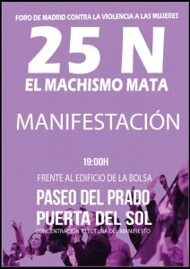 Cartel manifestación 25-N
