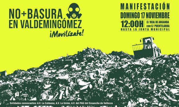 Vallecas no se rinde: nueva manifestación contra la llegada a Valdemingómez de la basura del Henares