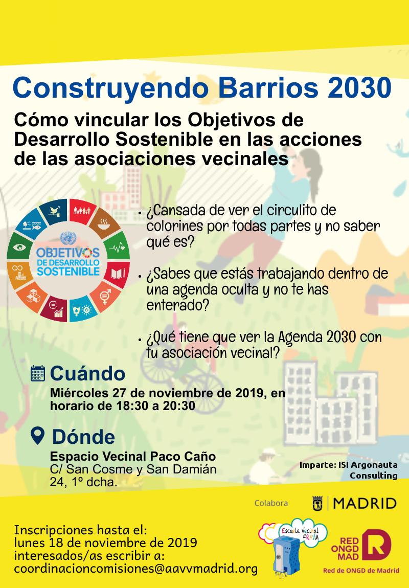 Cartel taller ODS Agenda 2030