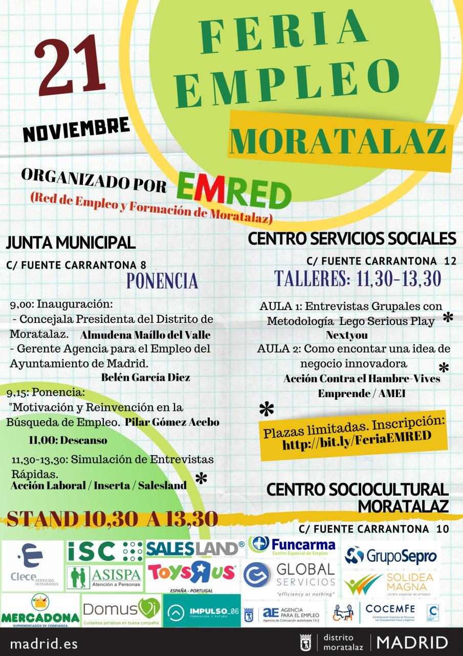 Cartel IV Feria de Empleo Moratalaz