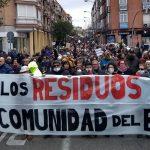 Contundente rechazo en la calle de la llegada de más basura a Valdemingómez
