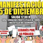"""30 colectivos de Leganés convocan una marcha """"por una ciudad donde las y los vecinos importen"""""""