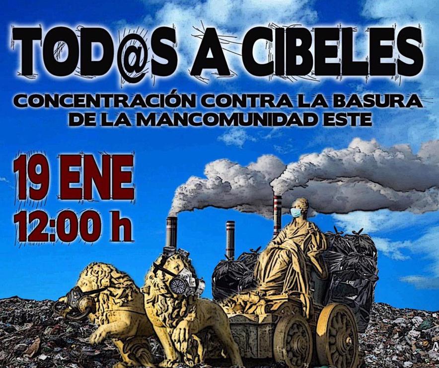 ¡Todos a Cibeles! Vallecas lleva al Ayuntamiento su rechazo a la basura del Henares