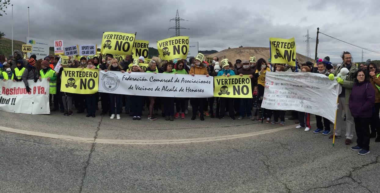 Las asociaciones vecinales de Alcalá califican de injusto que Vallecas deba acoger los residuos de su vertedero