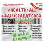 """""""Salud para todos"""": el 7 de abril, participa desde casa en la movilización europea en defensa de la sanidad pública"""