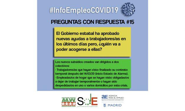 Segunda entrega de #InfoEmpleoCOVID-19: respuestas a dudas habituales en el periodo de crisis sanitaria