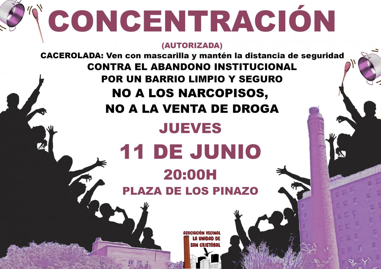 Cacerolada en San Cristóbal de los Ángeles contra la droga y el abandono institucional