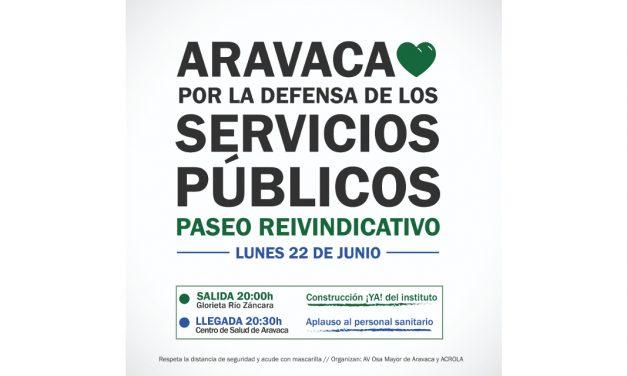 Aravaca celebra la llegada a la nueva normalidad con un paseo en defensa los servicios públicos