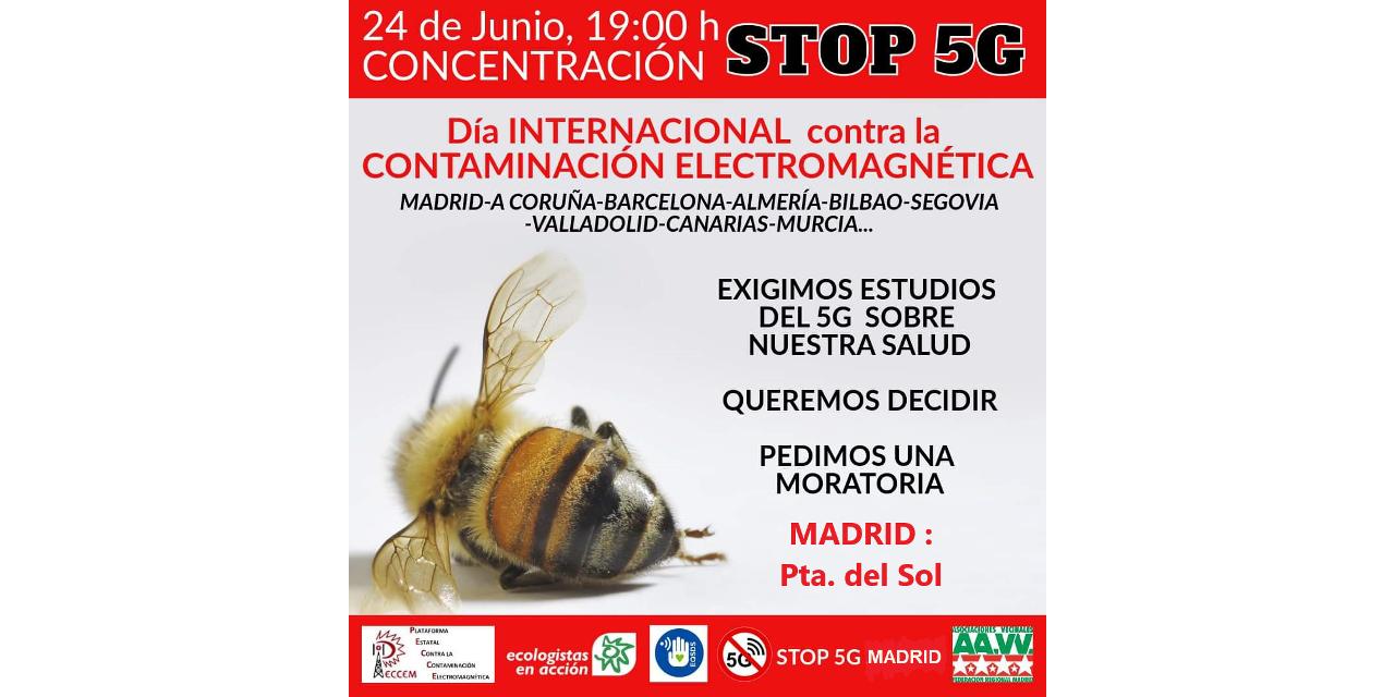 24-J: grupos vecinales y ecologistas vuelven a pedir una moratoria para la implantación del 5G