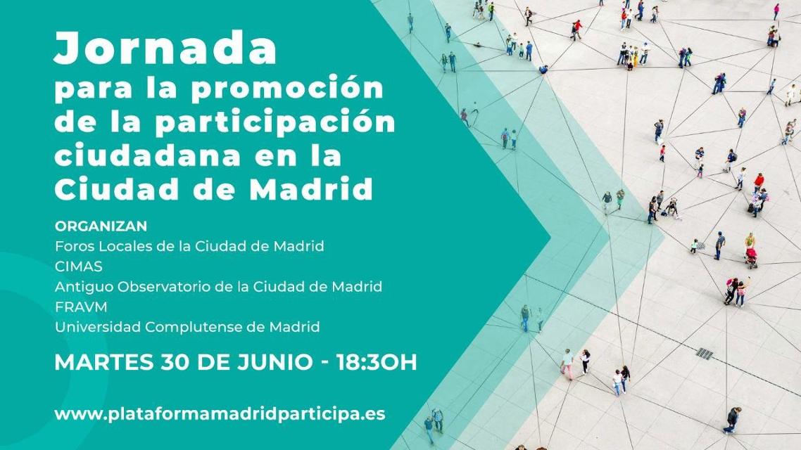 Una jornada para relanzar la participación ciudadana en el municipio de Madrid