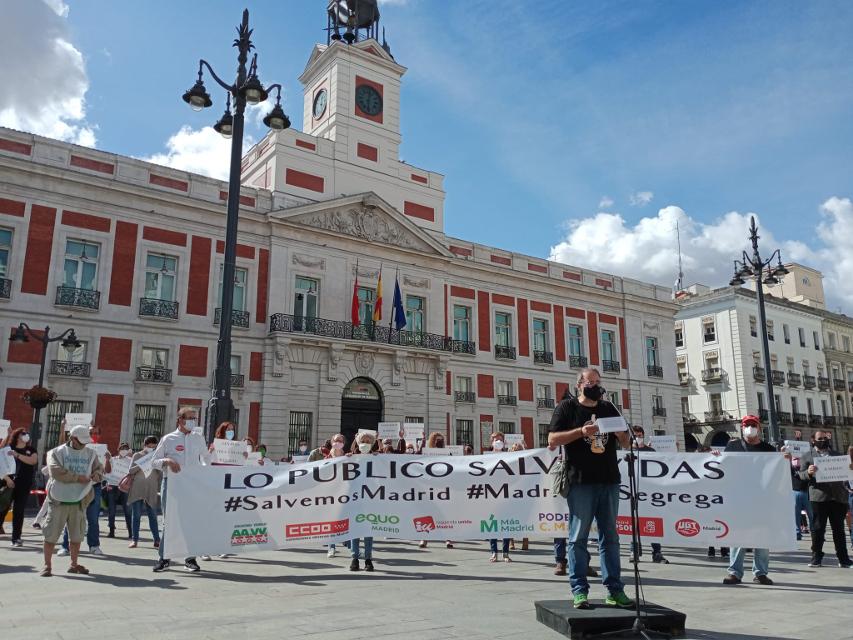#MadridNoSegrega: la FRAVM, sindicatos y partidos de izquierda protestan contra la desastrosa gestión de la pandemia de Díaz Ayuso