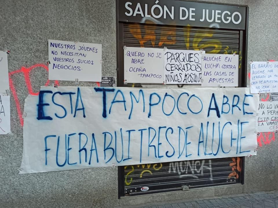 ¿Un nuevo local de apuestas en la calle Ocaña? ¡No lo permitamos!