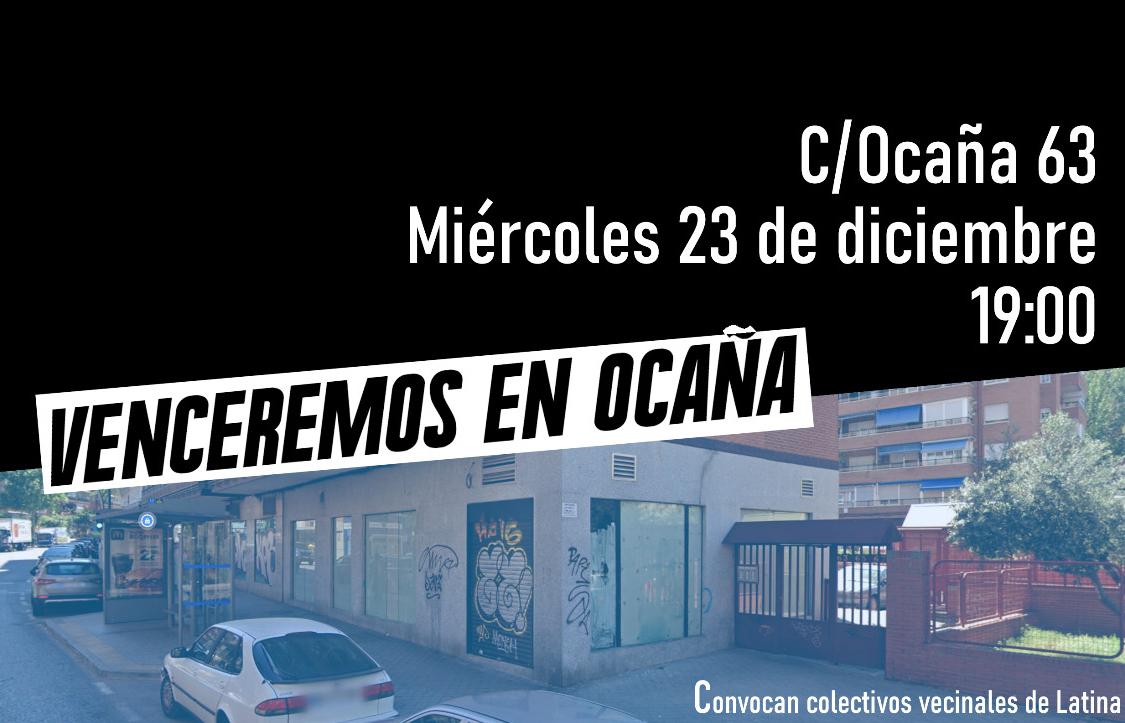 Nueva concentración vecinal contra la inminente apertura de un local de apuestas en la calle Ocaña