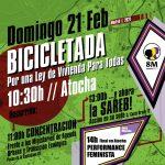 """21F: marcha en bici y concentraciones """"por una Ley de Vivienda para Todas"""""""
