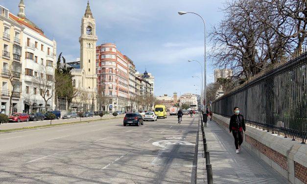 Pedimos la apertura de itinerarios peatonales y de bicicletas en los grandes parques cerrados por el temporal Filomena