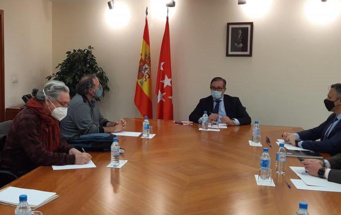 Reunión de la FRAVM con el consejero de Justicia de la Comunidad de Madrid