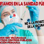 La Marea Blanca rechaza la entrada de la sanidad privada en la campaña de vacunación y pide refuerzos en los centros de salud