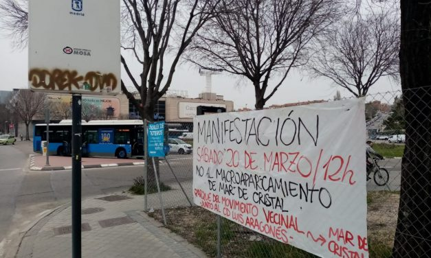 Sábado 20-M: nueva manifestación vecinal contra el macroparking de Mar de Cristal