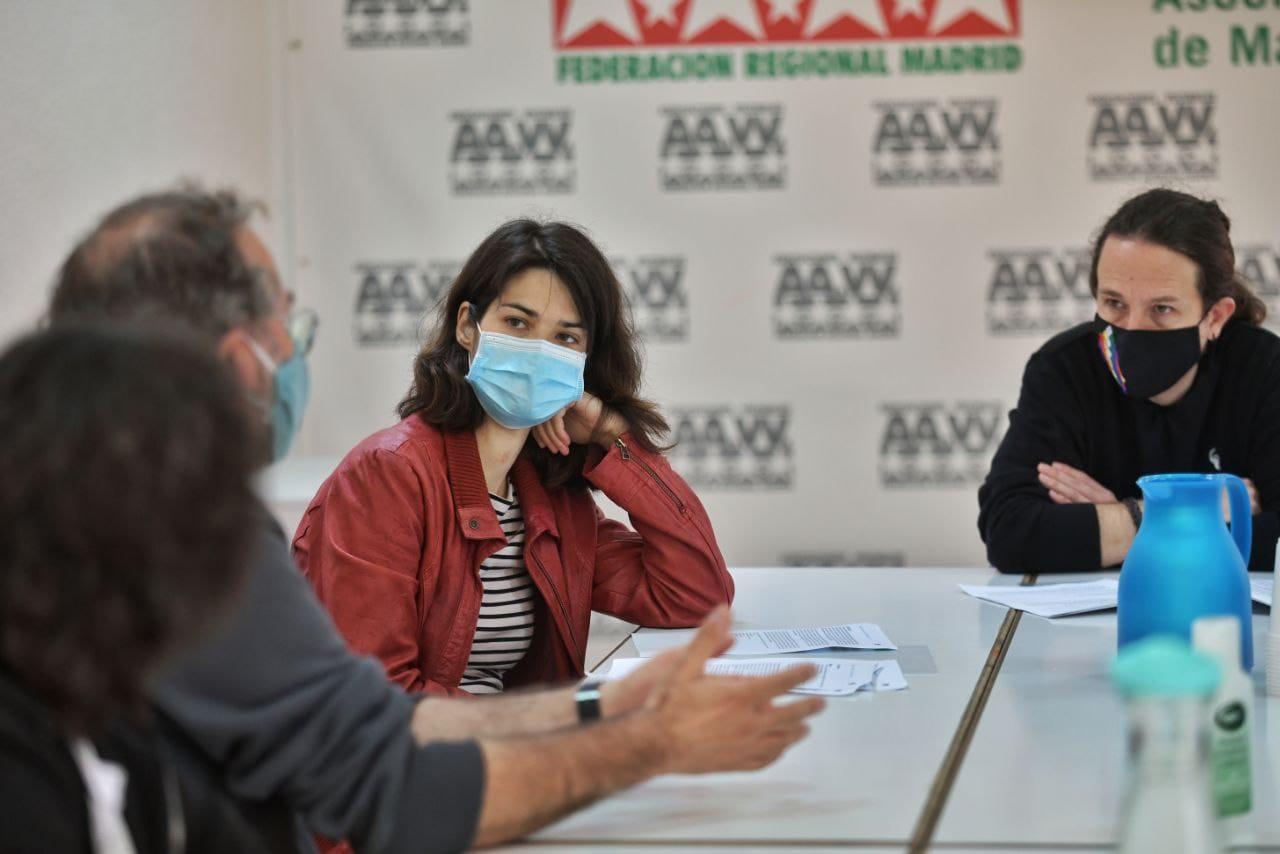 La federación vecinal inicia con Pablo Iglesias su ronda de reuniones con las candidaturas a los comicios del 4M