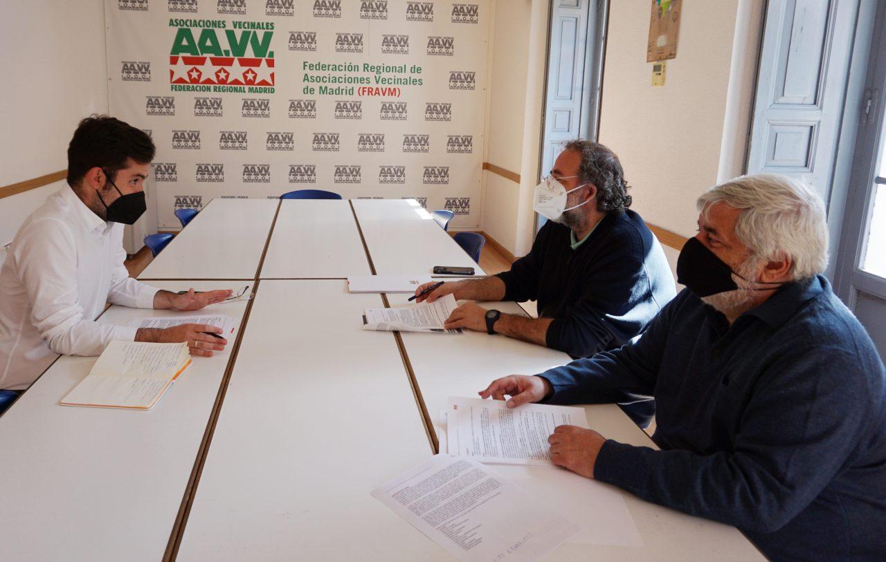 La FRAVM presenta a Ciudadanos sus propuestas de cara al 4M